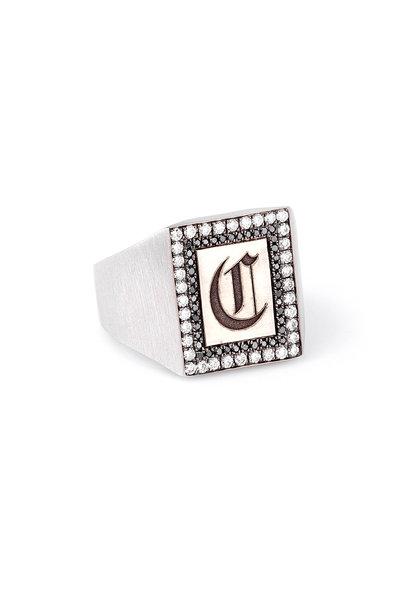 Sylva & Cie - 18K White Gold Signet Ring