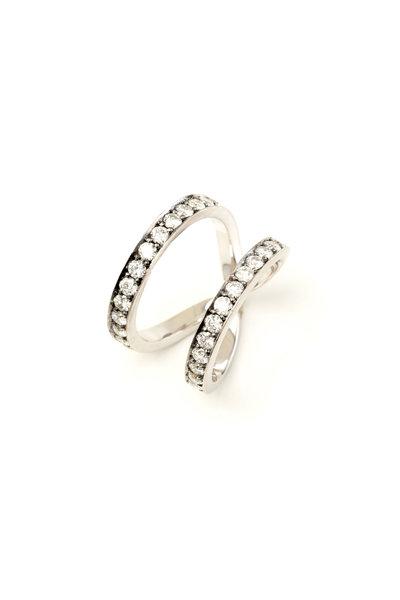Sylva & Cie - 18K White Gold Diamond Wonder Woman Ring