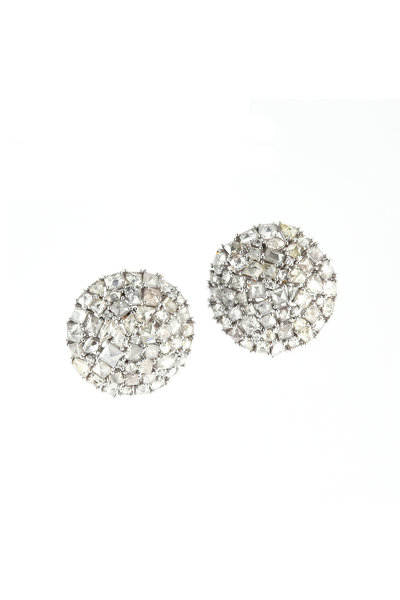 Sylva & Cie - 18K Gold Diamond Earrings