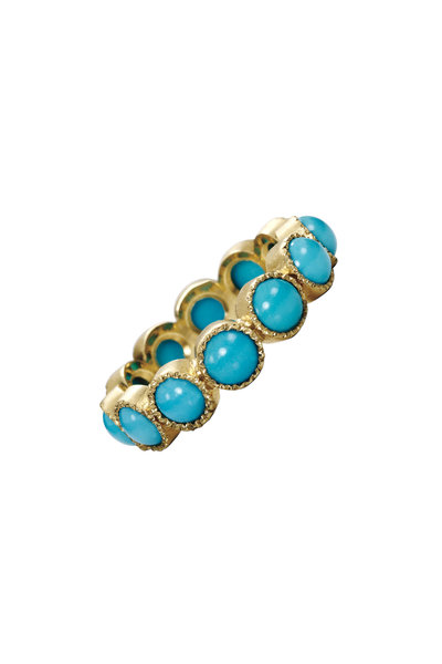 Sylva & Cie - 14K Yellow Gold Turquoise Stack Band
