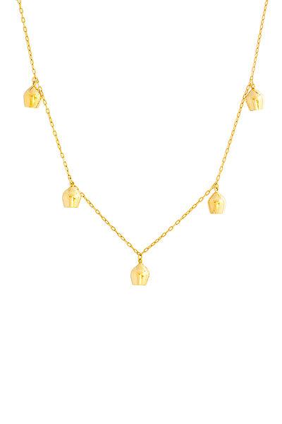 Haute Victoire - 18K Yellow Gold 5 Lune Charm Necklace