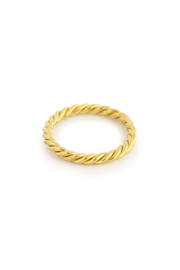 Haute Victoire 18K Yellow Gold Twist Band Ring