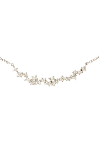 Kai Linz - White Gold Diamond Bar Necklace