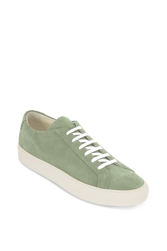 Common Projects Achilles Light Green Suede Low-Top Sneaker