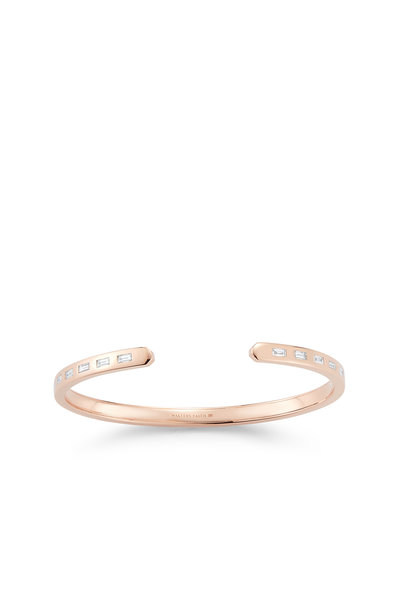 Walters Faith - 18K Rose Gold Ottoline Diamond Cuff