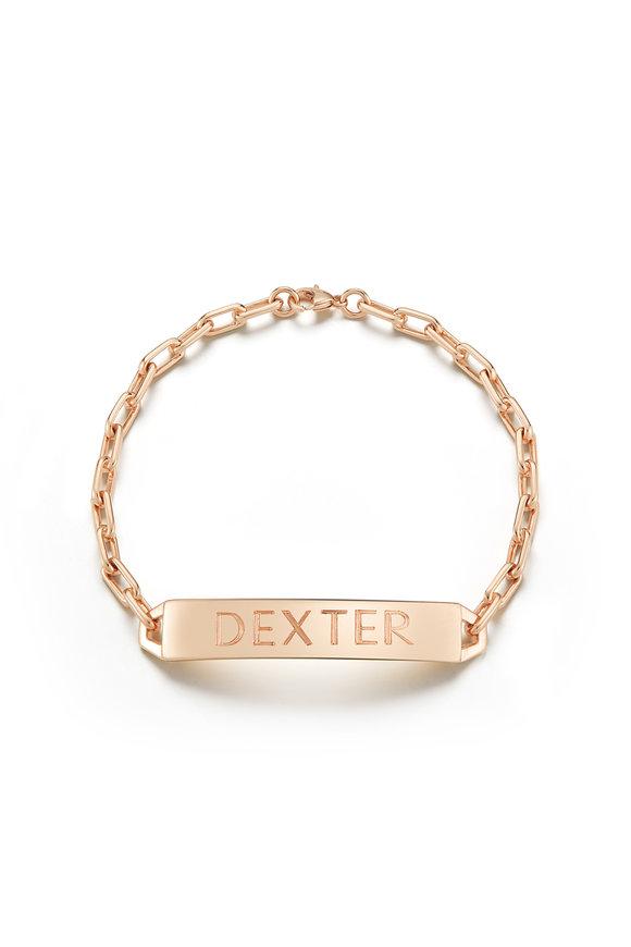 Walters Faith 18K Rose Gold Carrington ID Bracelet
