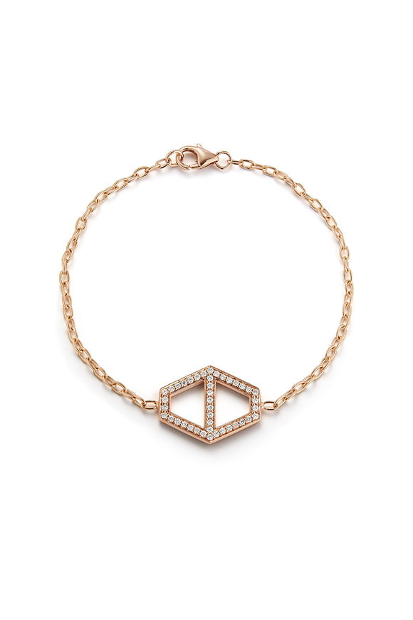 Walters Faith 18K Rose Gold Keynes Diamond Hexagon Bracelet