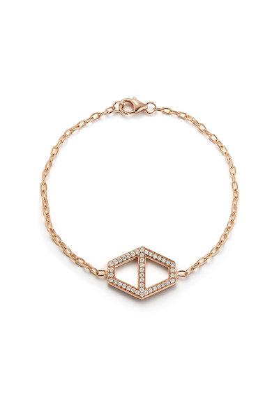 Walters Faith - 18K Rose Gold Keynes Diamond Hexagon Bracelet