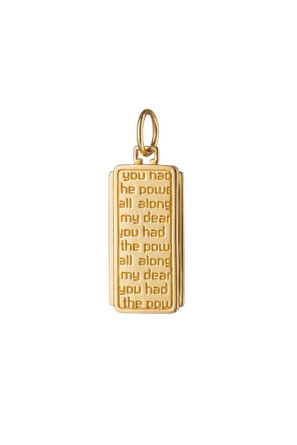 Monica Rich Kosann 18K Yellow Gold Dorothy Medallion