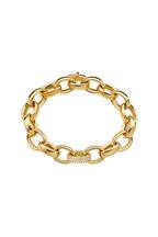 Monica Rich Kosann - 18K Yellow Gold Diamond Marilyn Link Bracelet