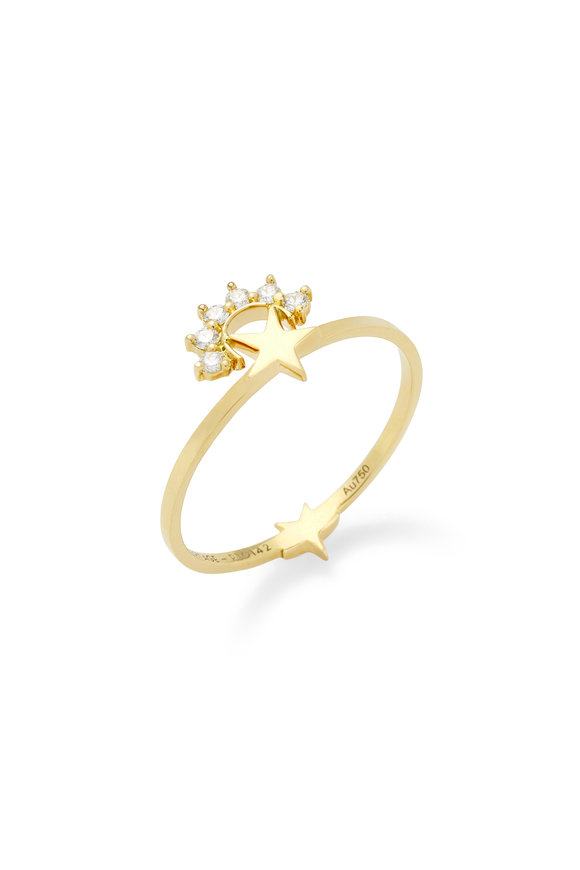 Nouvel Heritage 18K Yellow Gold Diamond Mystic Star Ring