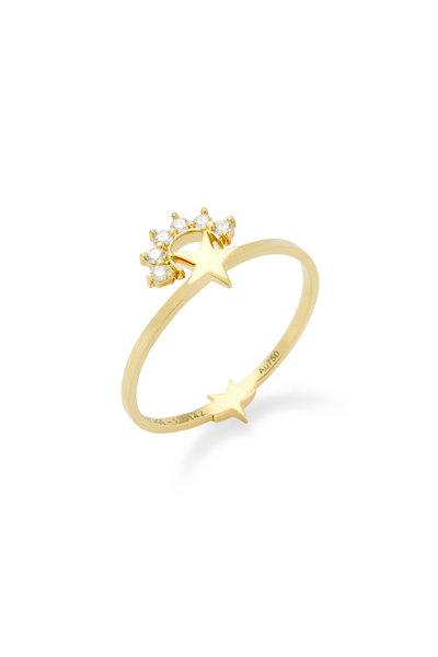 Nouvel Heritage - 18K Yellow Gold Diamond Mystic Star Ring