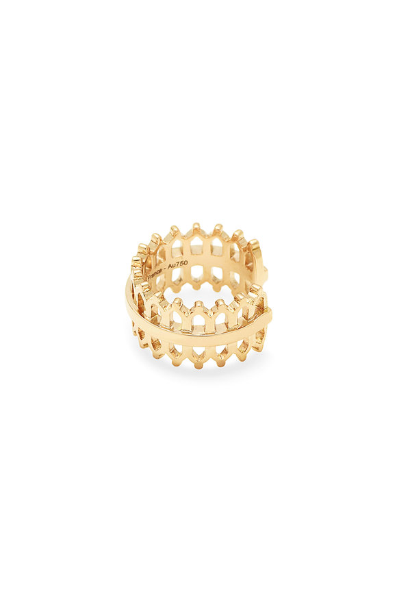 Nouvel Heritage 18K Yellow Gold Double Lace Ear Cuff