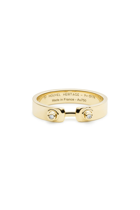 Nouvel Heritage 18K Yellow Gold Monday Morning Diamond Mood Ring
