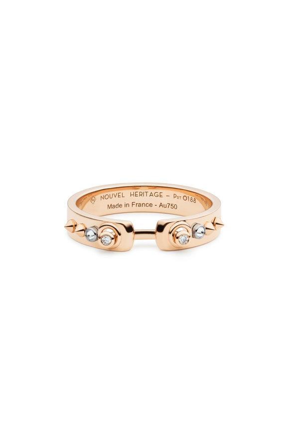 Nouvel Heritage 18K Rose Gold Brunch In NY Diamond Mood Ring