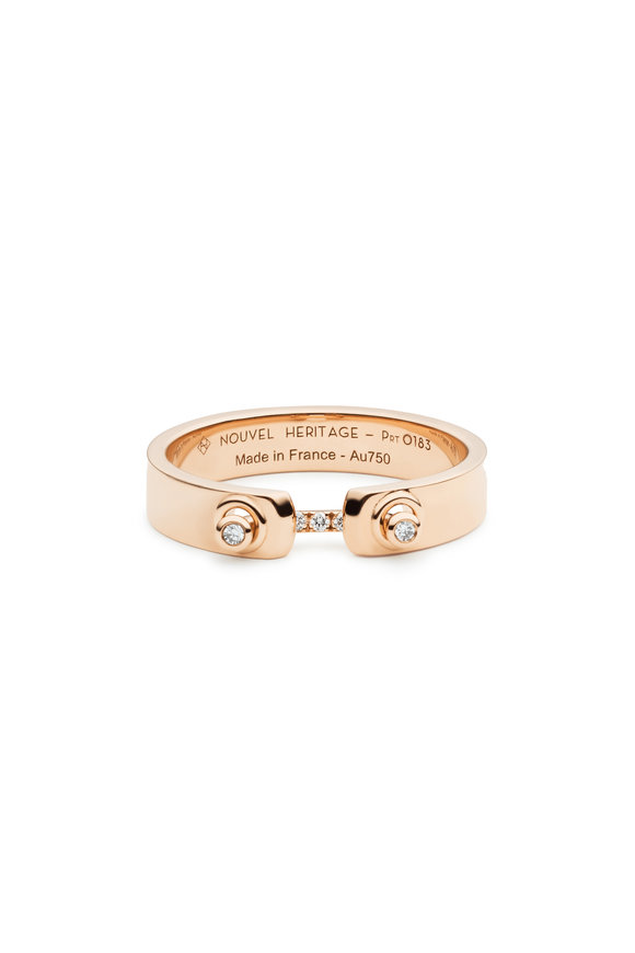 Nouvel Heritage 18K Yellow Gold Business Meeting Diamond Mood Ring
