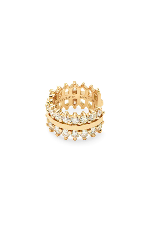 Nouvel Heritage 18K Yellow Gold Diamond Line Ear Cuff