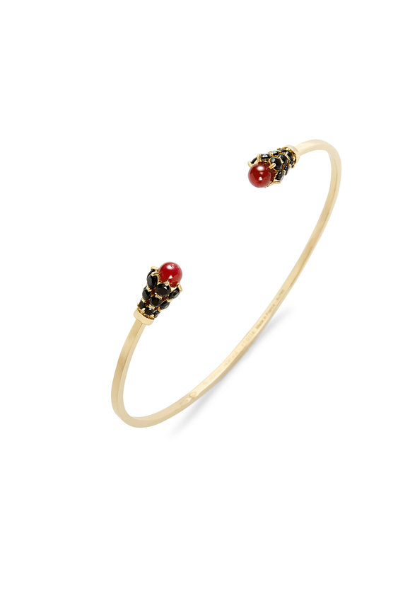 Nouvel Heritage 18K Yellow Gold Spinel & Ruby Cuff