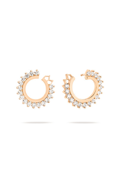 Nouvel Heritage - 18K Rose Gold Vendome Diamond Earrings