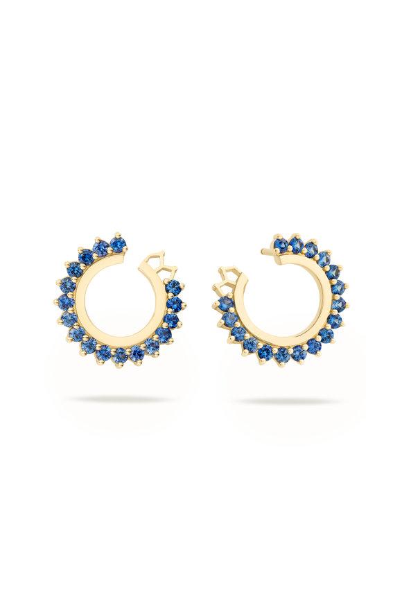 Nouvel Heritage 18K Yellow Gold Vendome Blue Sapphire Earrings