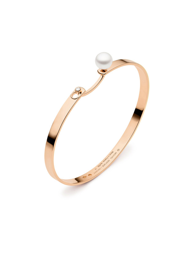 Nouvel Heritage 18K Rose Gold Lunch With Mom  Pearl Mood Bangle