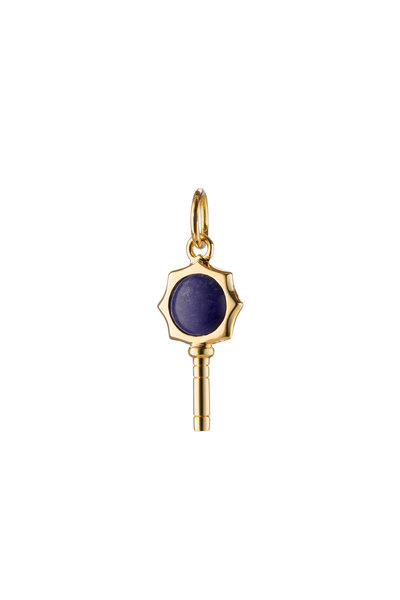 Monica Rich Kosann - 18K Yellow Gold Mini Happiness Lapis Key Charm