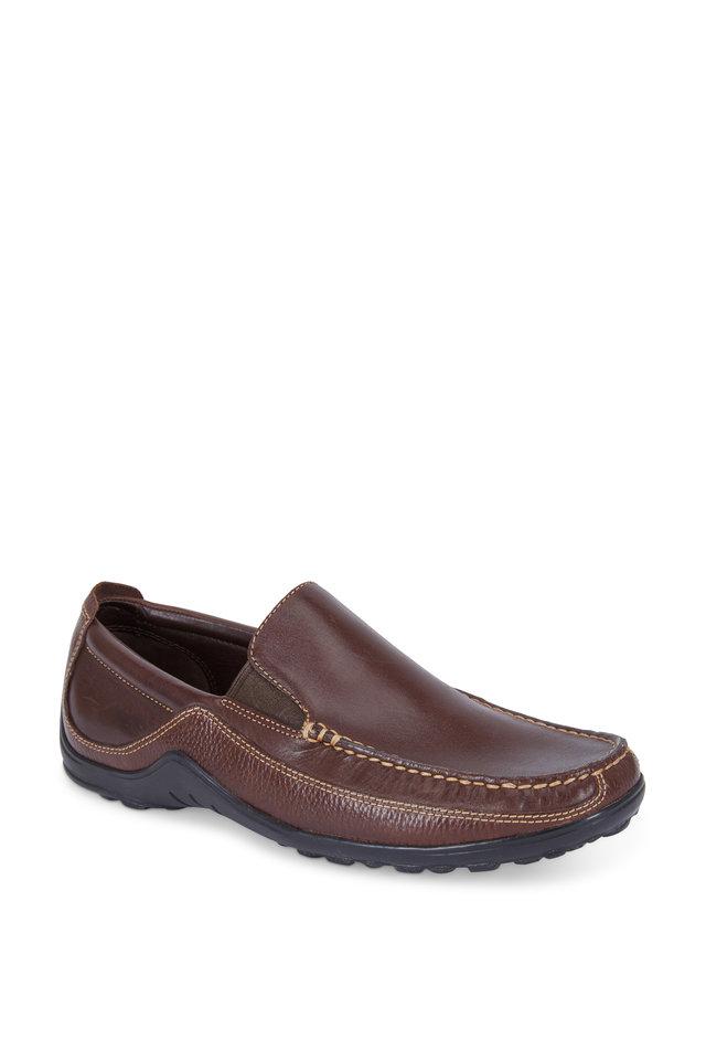 Tucker French Roast Brown Leather Venetian Loafer