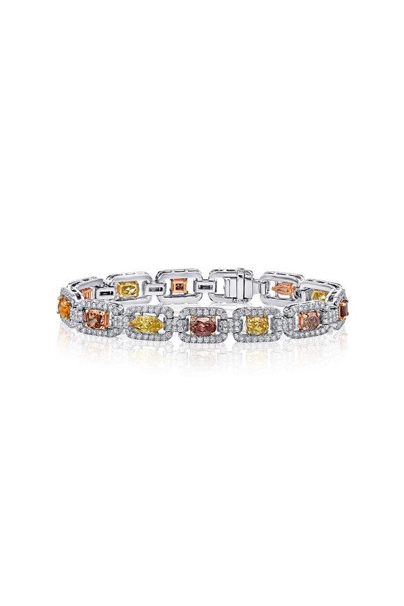 Louis Newman Multicolor Diamond Bracelet