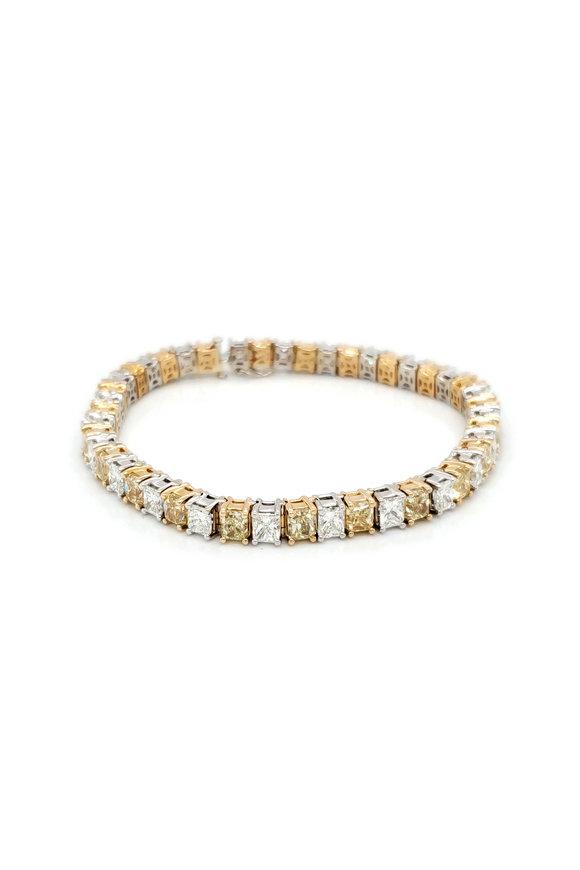 Louis Newman Two Tone Diamond Bracelet