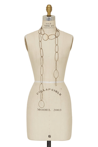Brunello Cucinelli - Pirite Beaded Loops Long Necklace