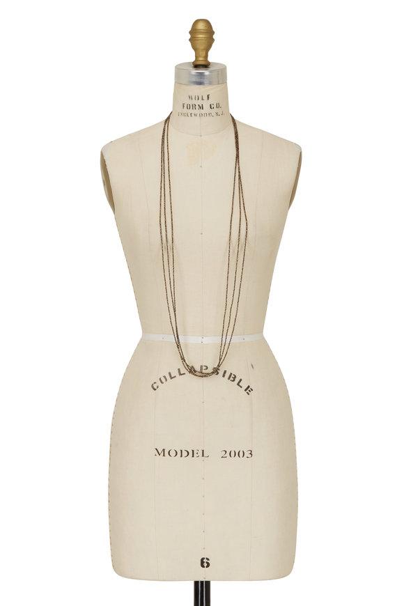 Brunello Cucinelli Pirite Beaded Three Strand Necklace