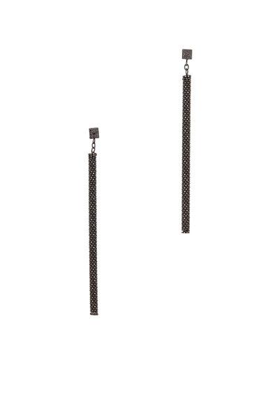 Brunello Cucinelli - Ultra Black Monili Thin Column Earrings