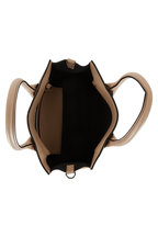 Brunello Cucinelli - Beige Rose Leather Monili Trim Small City Bag
