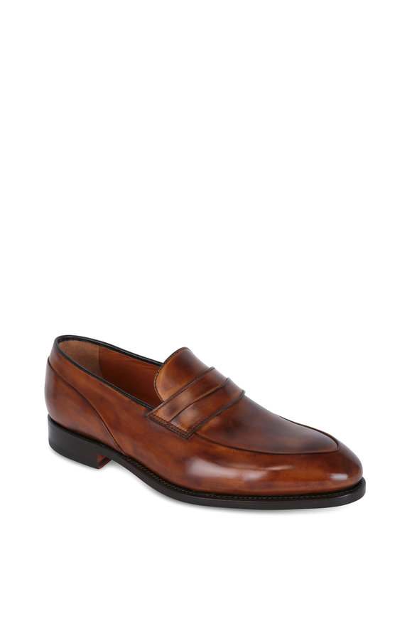 Bontoni Principe Light Brown Leather Loafer