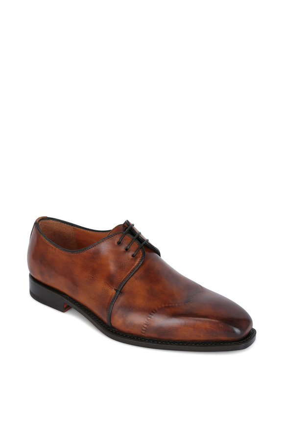 Bontoni Virtuoso Burnished Brown Lace-Up Dress Shoe