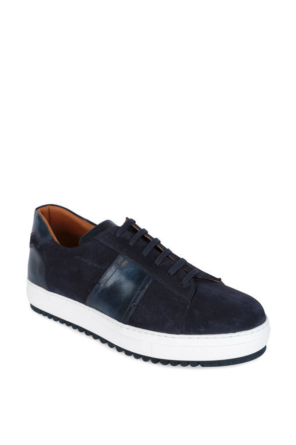 Bontoni Torneo Navy Blue Suede Sneaker