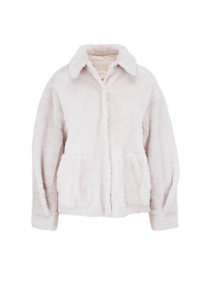 Brunello Cucinelli - Ice Shearling & Nylon Reversible Coat