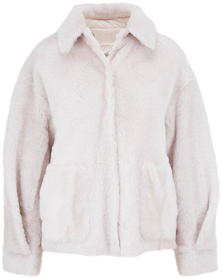 Brunello Cucinelli Ice Shearling & Nylon Reversible Coat