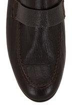 Brunello Cucinelli - Brown Croc Embossed Leather Monili Loafer