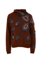 Brunello Cucinelli - Brown Curly Mohair & Cashmere Mockneck Sweater