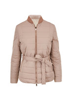Brunello Cucinelli - Cookie Taffeta Puffy Reversible Belted Jacket