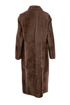 Brunello Cucinelli - Cigar Ultra Light Shearling Double-Breasted Coat