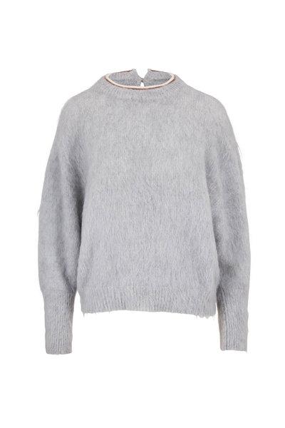 Brunello Cucinelli - Glacier Mohair & Alpaca Monili Crewneck Sweater