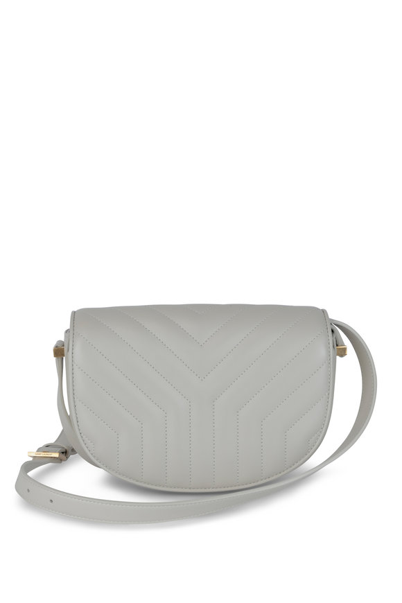 Saint Laurent Joan Cream Quilted Leather Shoulder Bag