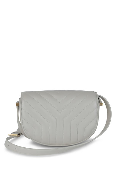 Saint Laurent - Joan Cream Quilted Leather Shoulder Bag
