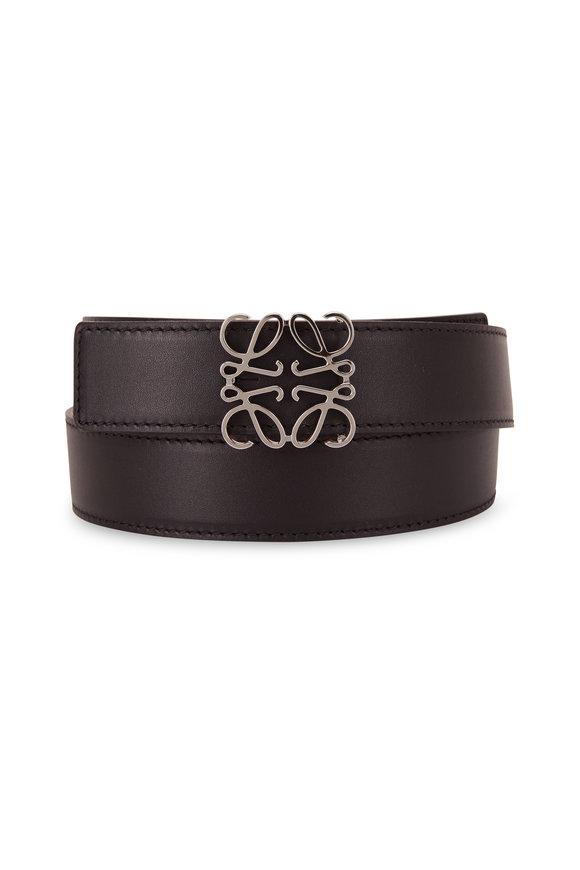 Loewe Black & Tan Leather Anagram Belt