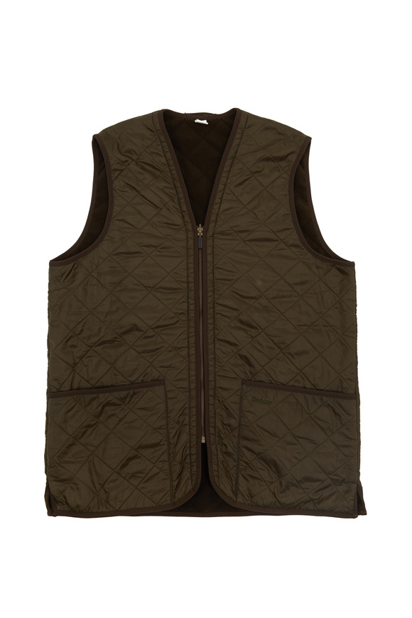 Barbour Hunter Green Polarquilt Waistcoat