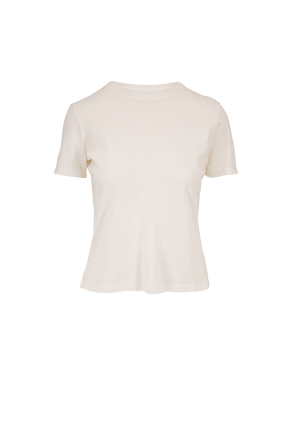 John Elliott White Cotton High Twist T-Shirt