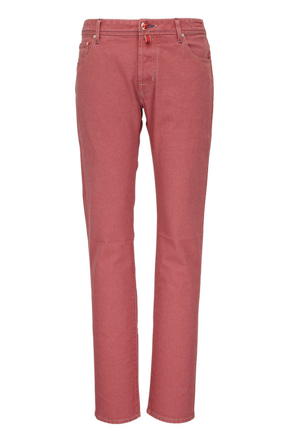 Jacob Cohen  Washed Red Five Pocket Pant