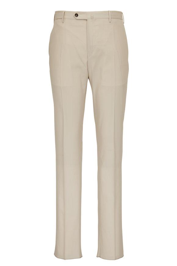 PT Torino Tan Twill Flat Front Pant